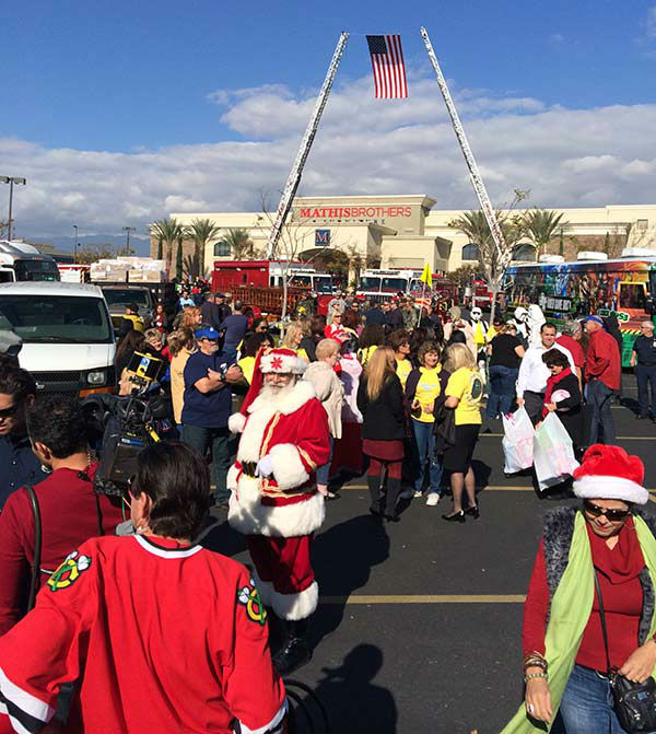 Thanks to everyone who came out to our Stuff-A-Bus event at Mathis Brothers in Ontario on Friday, Dec. 6, 2013. <span class=meta>(KABC Photo)</span>