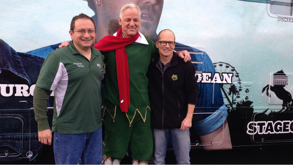 Garth the Elf hanging out with KFROG Radio at our Stuff-A-Bus event at Mathis Brothers in Ontario on Friday, Dec. 6, 2013. <span class=meta>(KABC Photo)</span>