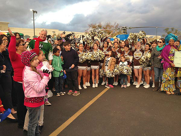 Thanks again to everyone who came out, donated and volunteered at our Stuff-A-Bus event at Mathis Brothers in Ontario on Friday, Dec. 6, 2013.  <span class=meta>(KABC Photo)</span>