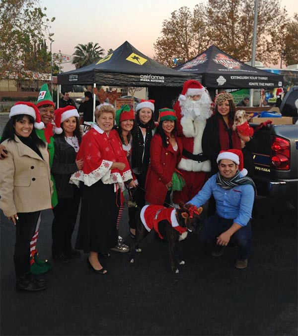 The Community Associations Institute-Greater Los Angeles Chapter at our Stuff-A-Bus event at Westfield Topanga mall in Canoga Park on Friday, Dec. 13, 2013. <span class=meta>(KABC Photo)</span>