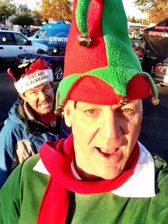 Garth the Elf&#39;s selfie from our Stuff-A-Bus event at Westfield Topanga mall in Canoga Park on Friday, Dec. 13, 2013. <span class=meta>(KABC Photo)</span>