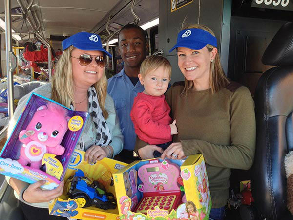 Thank you to our loyal ABC7 viewers for coming out and donating to our Spark of Love toy drive at the Stuff-A-Bus event at Westfield Topanga mall in Canoga Park on Friday, Dec. 13, 2013. <span class=meta>(KABC Photo)</span>