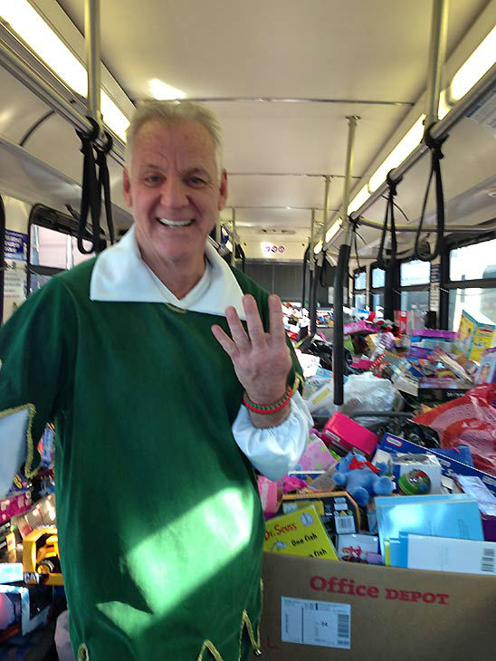 Our fourth bus stuff at our Stuff-A-Bus event, our last of this year, at the Honda Center in Anaheim on Friday, Dec. 20, 2013. <span class=meta>(KABC Photo)</span>