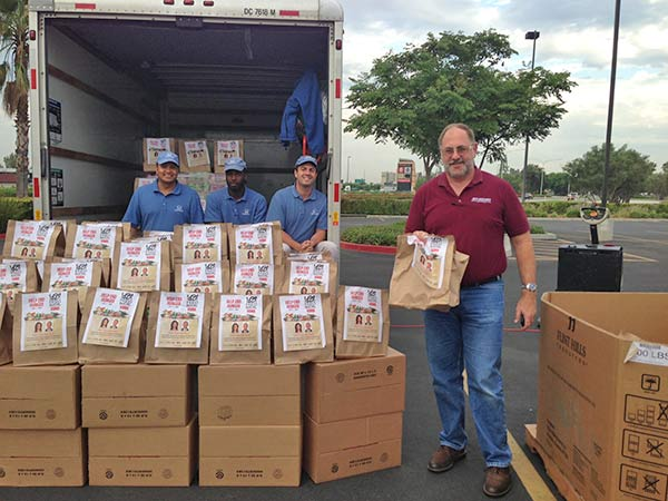 Joe from Lake Elsinore donates food at the Feed SoCal event in Ontario on Friday, July 26, 2013. <span class=meta>(KABC Photo)</span>