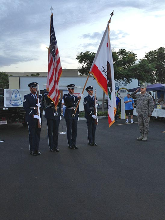 Members of the California Air National Guard are shown at the Feed SoCal event in Ontario on Friday, July 26, 2013. <span class=meta>(KABC Photo)</span>