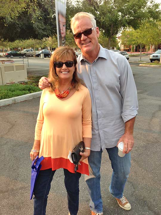 "<div class=""meta ""><span class=""caption-text "">ABC7 Weathercaster Garth Kemp poses with Kathleen, a teacher at St. Paschal Baylon School, who came out to support the Feed SoCal event in Thousand Oaks on Friday, July 19, 2013. (KABC Photo)</span></div>"