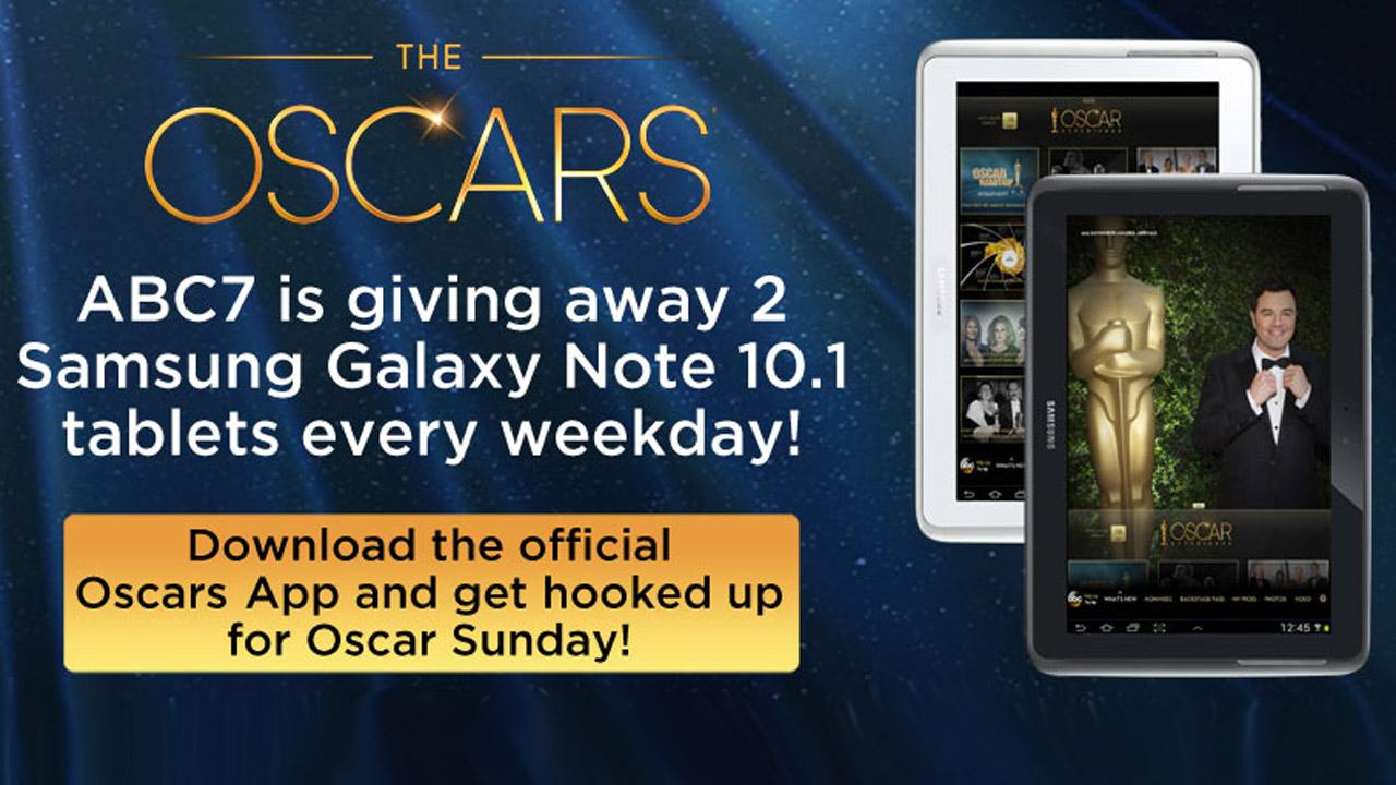 LIKE ABC7 on Facebook and enter for a chance to win a Samsung Galaxy Note 10.1 tablet through Friday, Feb. 22, 2013.