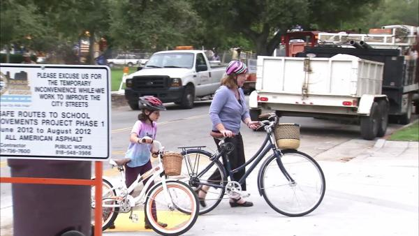 Parents, city improve bike safety at school