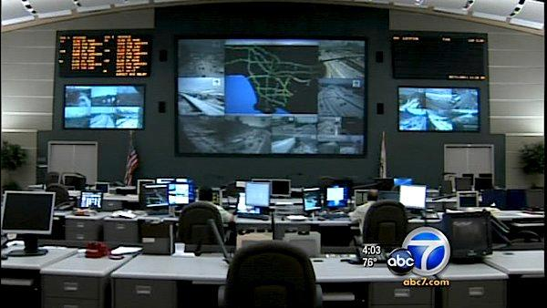 Caltrans is planning on monitoring and managing traffic during Carmageddon with the use of high-tech tools in real time from the department's traffic management center in Eagle Rock.