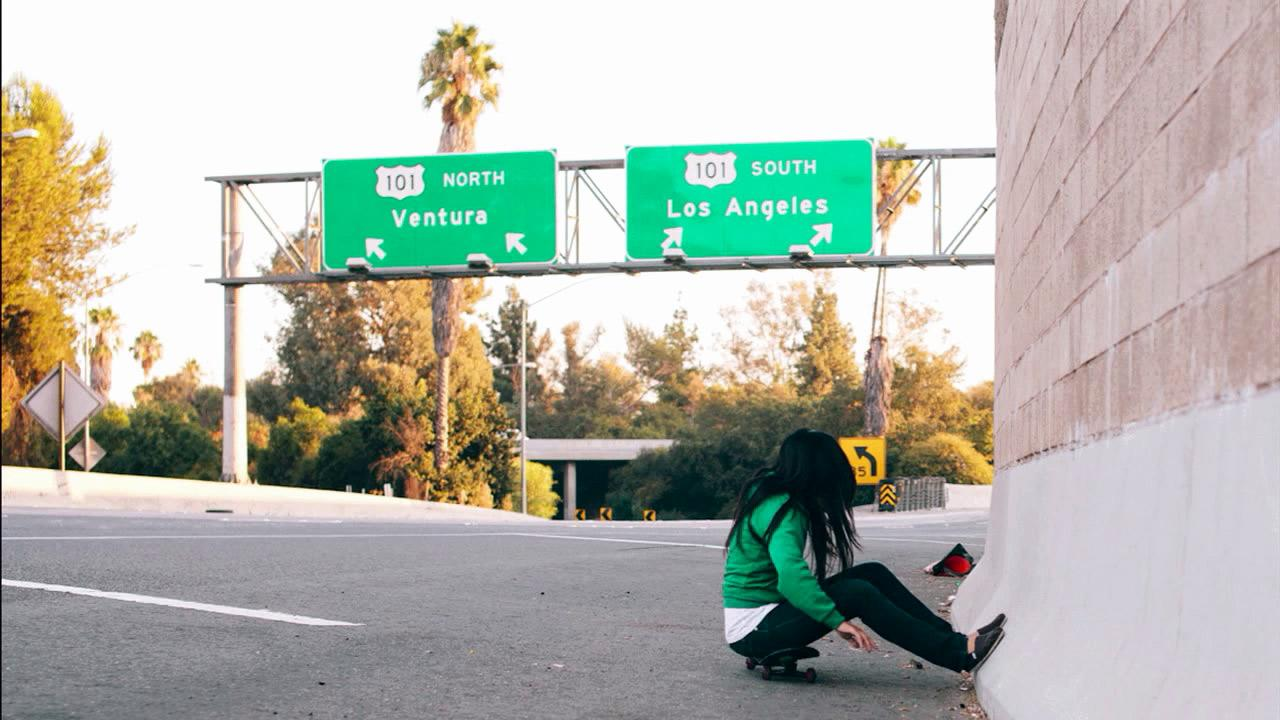 A skateboarder is seen on a closed portion of the I-405 during Carmageddon 2 weekend. The 405 Freeway was closed from the 10 to 101 freeways on Sept. 29 and Sept. 30 as crews demolished the north side of the Mulholland Drive Bridge. <span class=meta>(ABC7 viewers Melly Lee and Yoshi Sudarso)</span>