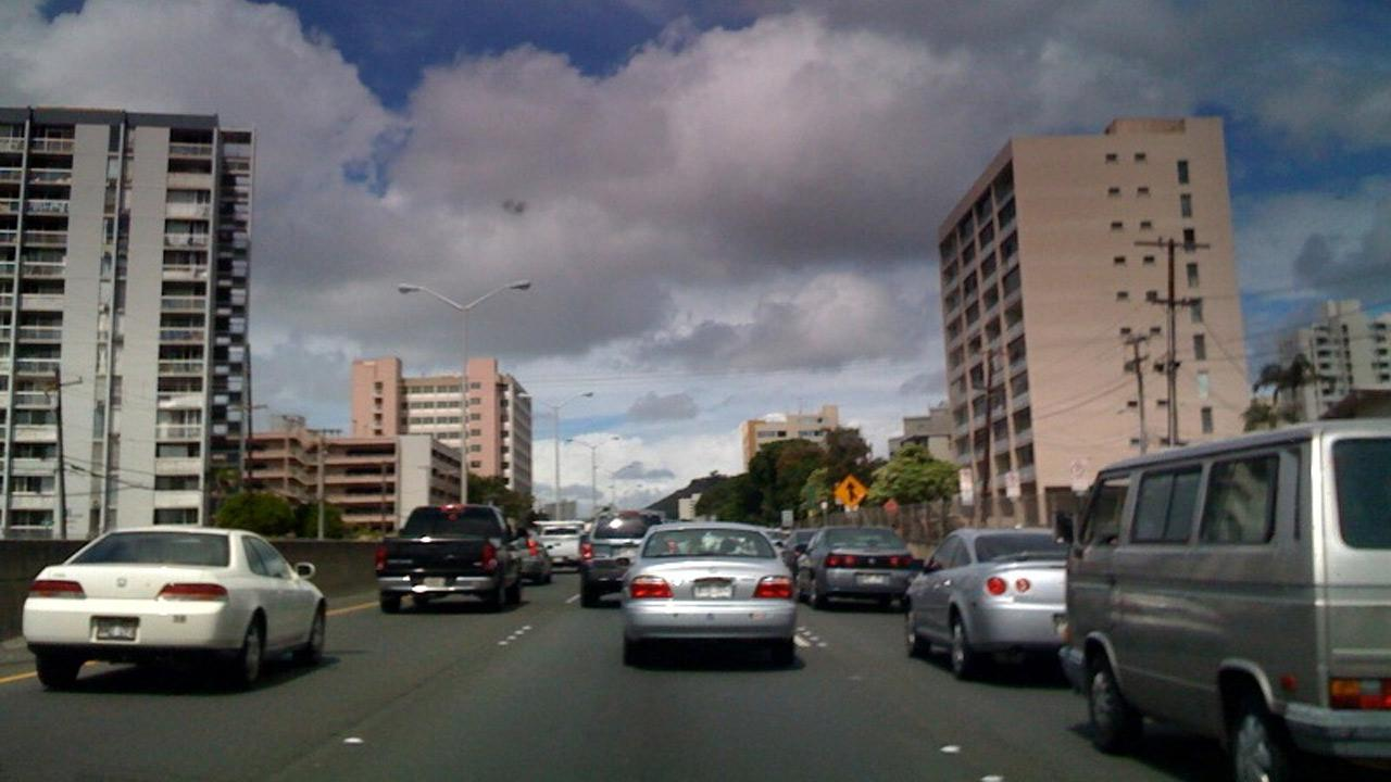 Honolulu, Hawaii ranked No. 2 on a list of cities with the worst traffic congestion. The study was done by traffic monitoring group INRIX.flickr/kimubert