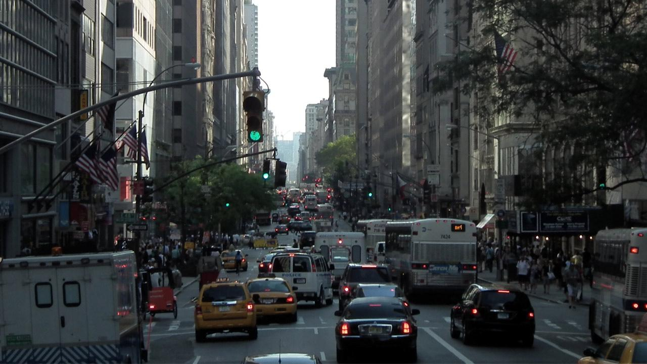 New York City ranked No. 5 on a list of cities with the worst traffic congestion. The study was done by traffic monitoring group INRIX. <span class=meta>(flickr&#47;Erik Daniel Drost)</span>