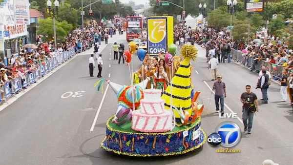 The Goya Foods float is featured during the 65th annual Mexican Independence Day Parade in East Los Angeles on Saturday, Sept. 10, 2011. Goya Foods is the largest Hispanic-owned food company in the country.
