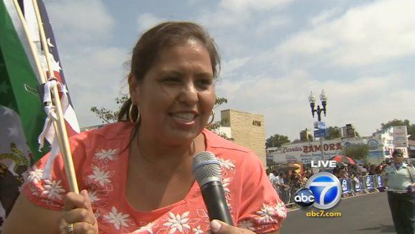 LAUSD Board President Monica Garcia spoke to Eyewitness News reporter Robert Holguin about the importance of Mexican Independence Day during the annual parade on Saturday, Sept. 10, 2011.