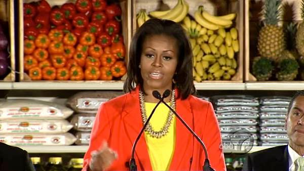 Northgate Gonzalez Market's 'Healthy Alternatives' campaign got the attention of first lady Michelle Obama when she paid a visit to a future Northgate Gonzalez site in Inglewood.