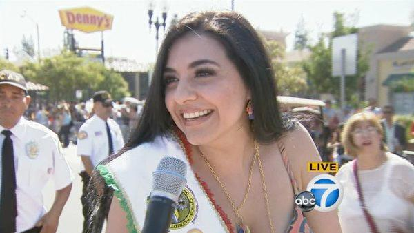 Mexican singer and actress Graciela Beltran served as the grand marshal of the event on Sunday, Sept. 9, 2012.
