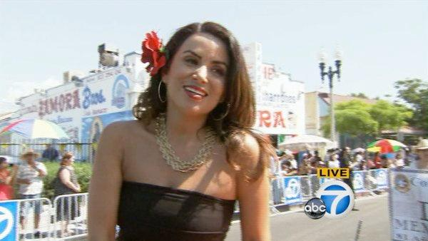 ABC7's own Alysha Del Valle rides through the Mexican Independence Day Parade on Sunday, Sept. 9, 2012.