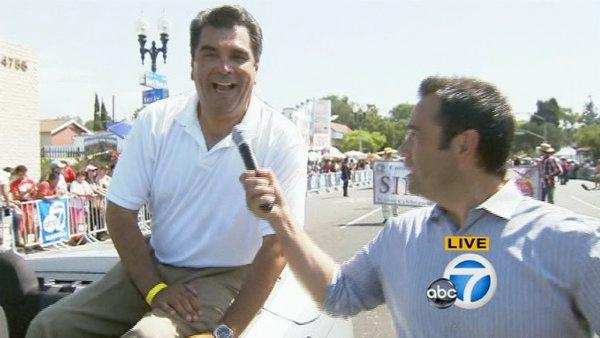 ABC7's own Sid Garcia rides through the Mexican Independence Day Parade on Sunday, Sept. 9, 2012.