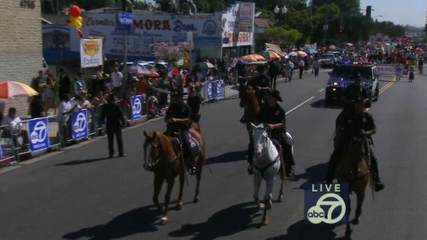 L.A. Metro Mounted Platoon participate in the 2013 Mexican Independence Day Parade on Sunday, Sept