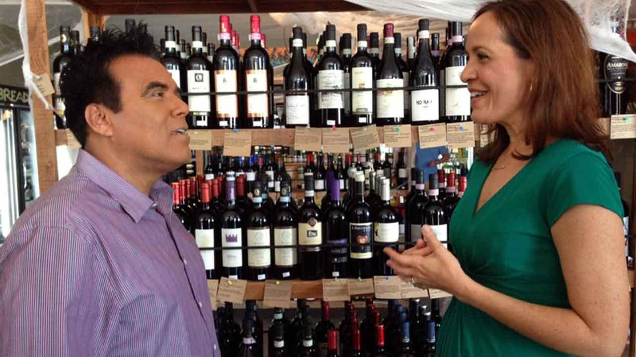 Danny Romero meets with Pamela Pajuelo, better known as Senorita Vino, on an episode of Eye on L.A. that aired on Sunday, Nov. 17, 2013.