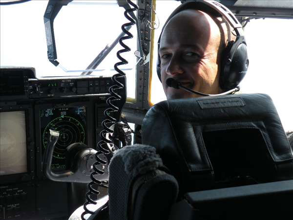Reporters were invited to ride along Wednesday Sept. 1 as a Coast Guard HC-130J Hercules airplane crew flew along the east coast making Urgent Marine Information Broadcasts about Hurricane Earl. <span class=meta>(WTVD Photo&#47; Mat Mendez)</span>
