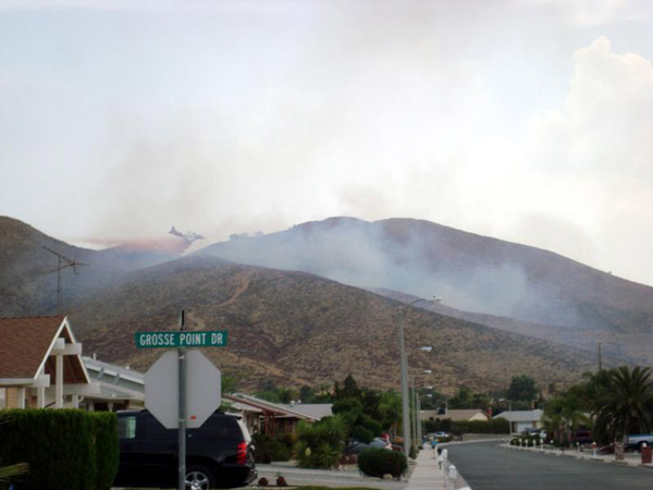 From ABC7 viewer Jim Bertrand, fire in Sun City on Aug. 25, 2010. &#160;When you see breaking news happen, send your photos to video@myabc7.com, or send them to @abc7 on Twitter <span class=meta>(ABC7 viewer Jim Bertrand)</span>
