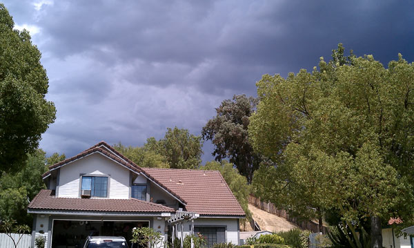 From ABC7 viewer Melissa Brambila, thunderstorms over Temecula on Aug. 25, 2010. &#160;When you see breaking news happen, send your photos to video@myabc7.com, or send them to @abc7 on Twitter <span class=meta>(ABC7 viewer Melissa Brambila)</span>