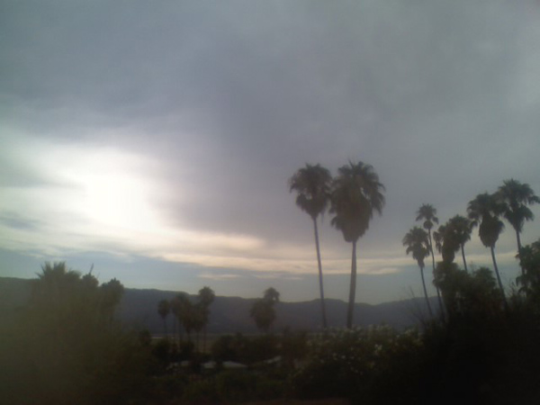 From ABC7 viewer Gina De La Torre, clouds in Lake Elsinore on Aug. 25, 2010. &#160;When you see breaking news happen, send your photos to video@myabc7.com, or send them to @abc7 on Twitter <span class=meta>(ABC7 viewer Gina De La Torre)</span>