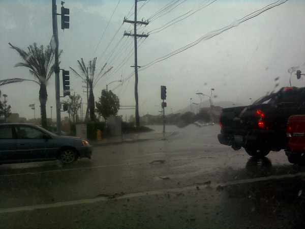 From ABC7 viewer Carmen Gonzalez, rain in Lake...