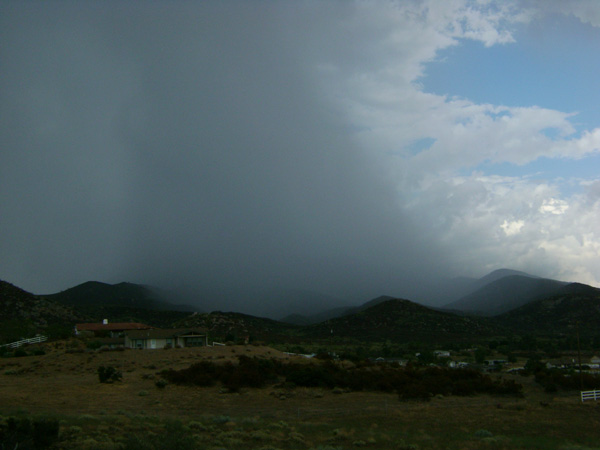 From ABC7 viewer Mike Greyshock, rain on Cahuilla Mountain on Aug. 25, 2010. &#160;When you see breaking news happen, send your photos to video@myabc7.com, or send them to @abc7 on Twitter <span class=meta>(Mike Greyshock)</span>