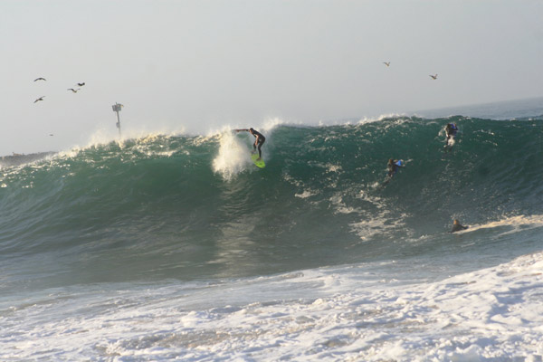 From ABC7 viewer Dave Holtz, high surf at the Wedge in Newport Beach on Aug. 25, 2010. &#160;When you see breaking news happen, send your photos to video@myabc7.com, or send them to @abc7 on Twitter <span class=meta>(ABC7 viewer Dave Holtz)</span>