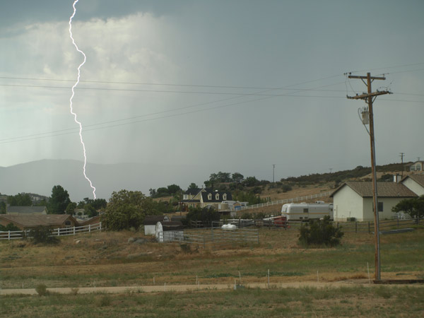 From ABC7 viewer Cindy Johnson, lightning seen in Aguanga on Aug. 25, 2010.