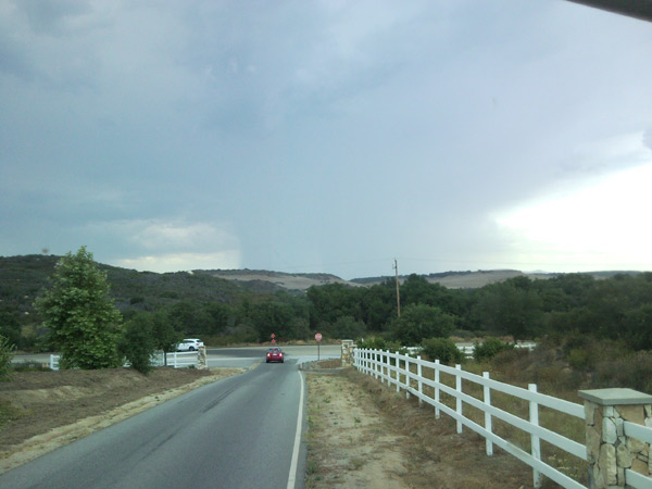 From ABC7 viewer Richard Lopez, storm in Riverside County on Aug. 25, 2010.