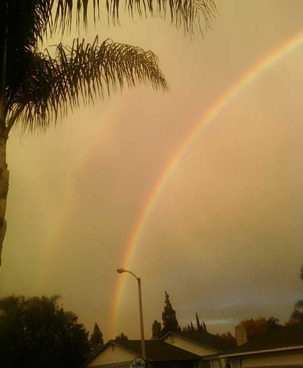 ABC7 viewer Candace Uribe sent in this photo following a rain storm on Friday, Oct. 1, 2010.  &#160;When you witness breaking news happen, send your photos to video@myabc7.com, or send them to @abc7 on Twitter <span class=meta>(ABC7 viewer Candace Uribe)</span>