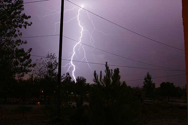 ABC7 viewer Randy Duarte of Pinon Hills sent in this photo following a rain storm on Tuesday, Oct. 19, 2010.  When You Witness breaking news, or even something extraordinary, send pictures and video to video@myabc7.com, or send them to @abc7 on Twitter <span class=meta>(ABC7 viewer Randy Duarte)</span>