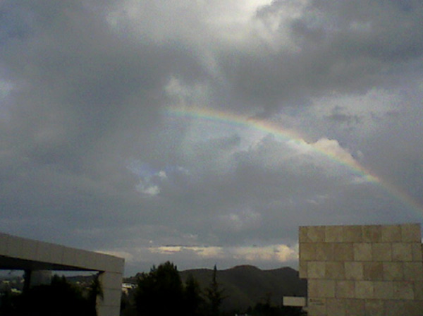 An ABC7 viewer sent in this photo of a rainbow seen from the Getty on Tuesday, Oct. 19, 2010.  When You Witness breaking news, or even something extraordinary, send pictures and video to video@myabc7.com, or send them to @abc7 on Twitter <span class=meta>(ABC7 viewer)</span>