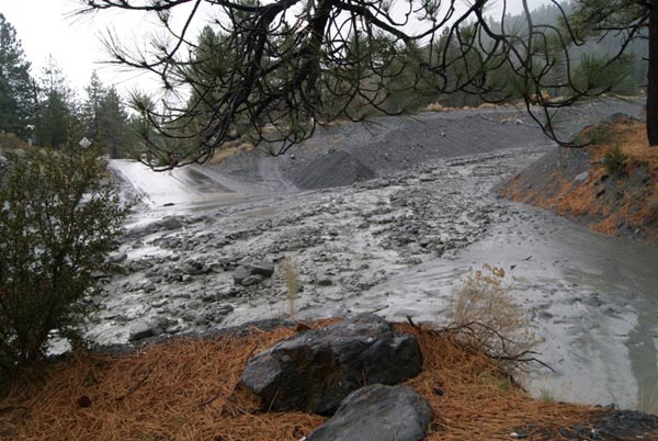 ABC7 viewer Nikki Garrett Metzger of Victorville sent in this photo of mud flow in Wrightwood on Sunday, Dec. 19, 2010.  When You Witness breaking news, or even something extraordinary, send pictures and video to video@myabc7.com, or send them to @abc7 on Twitter <span class=meta>(ABC7 viewer Nikki Garrett Metzger)</span>