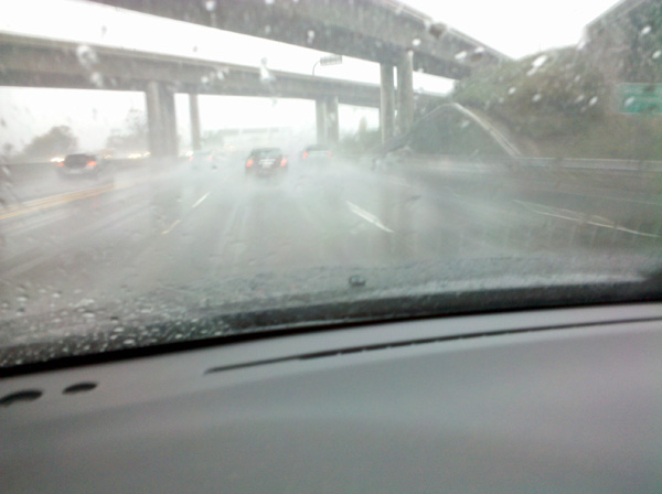 ABC7 viewer Nick Tiwari sent in this photo of rain during his drive on the 5 Freeway in Irvine on Monday, Dec. 20, 2010.  When You Witness breaking news, or even something extraordinary, send pictures and video to video@myabc7.com, or send them to @abc7 on Twitter <span class=meta>(ABC7 viewer Nick Tiwari)</span>