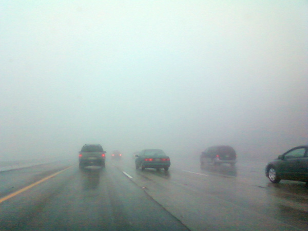 An ABC7 viewer sent in this photo of fog during a drive Chino to Hesperia on Sunday, Dec. 19, 2010.  When You Witness breaking news, or even something extraordinary, send pictures and video to video@myabc7.com, or send them to @abc7 on Twitter <span class=meta>(ABC7 viewer)</span>