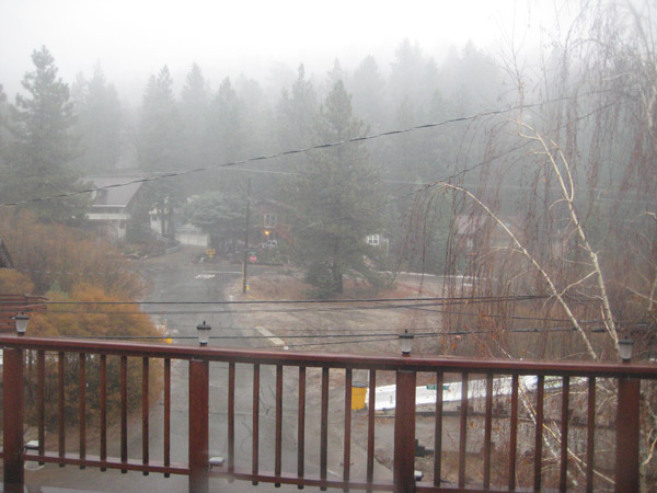 ABC7 viewer Gina Halliburton sent in this photo of the rainy weather in Green Valley Lake, Calif., on Monday, Dec. 20, 2010.   When You Witness breaking news, or even something extraordinary, send pictures and video to video@myabc7.com, or send them to @abc7 on Twitter <span class=meta>(ABC7 viewer Gina Halliburton)</span>