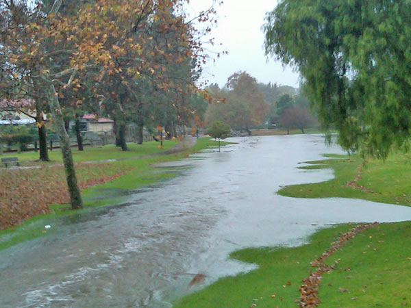 ABC7 viewer Justin Fisher sent in this photo of flooding at Creek Park in La Mirada, Calif., on Monday, Dec. 20, 2010.    When You Witness breaking news, or even something extraordinary, send pictures and video to video@myabc7.com, or send them to @abc7 on Twitter <span class=meta>(ABC7 viewer Justin Fisher)</span>