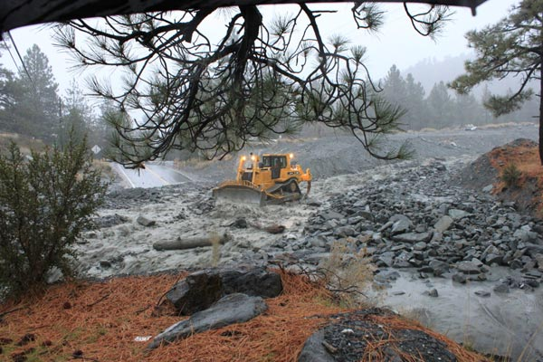 ABC7 viewer Jason Simpson sent in this photo of Sheep Creek wash in Wrightwood on Monday, Dec. 20, 2010.   When You Witness breaking news, or even something extraordinary, send pictures and video to video@myabc7.com, or send them to @abc7 on Twitter <span class=meta>(ABC7 viewer Jason Simpson)</span>