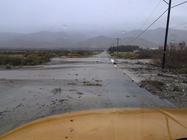 ABC7 viewer Travis Ruhl sent in this photo of the wet weather in Cabazon on Tuesday, Dec. 21, 2010.  When You Witness breaking news, or even something extraordinary, send pictures and video to video@myabc7.com, or send them to @abc7 on Twitter <span class=meta>(ABC7 viewer Travis Ruhl)</span>