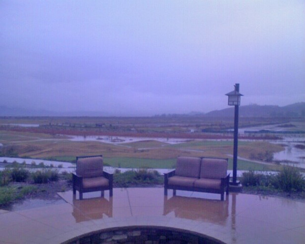 ABC7 viewer Mike Mellinger sent in this photo of flooding at the Links at Summer golf course in Lake Elsinore on Tuesday, Dec. 21, 2010.  When You Witness breaking news, or even something extraordinary, send pictures and video to video@myabc7.com, or send them to @abc7 on Twitter <span class=meta>(ABC7 viewer Mike Mellinger)</span>
