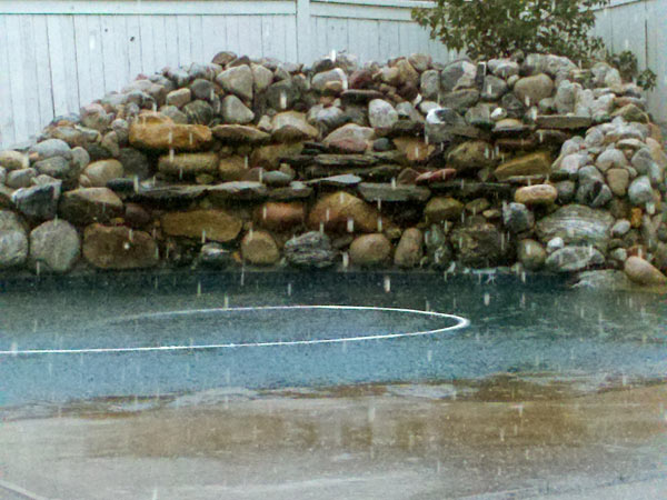 ABC7 viewer John Kellerhals sent in this photo of his flooded pool in Lake Elsinore on Tuesday, Dec. 21, 2010.   When You Witness breaking news, or even something extraordinary, send pictures and video to video@myabc7.com, or send them to @abc7 on Twitter <span class=meta>(ABC7 viewer John Kellerhals)</span>