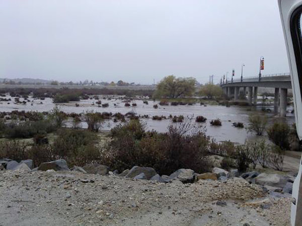 An ABC7 viewer sent in this photo of the San Jacinto River on Tuesday, Dec. 21, 2010.   When You Witness breaking news, or even something extraordinary, send pictures and video to video@myabc7.com, or send them to @abc7 on Twitter <span class=meta>(ABC7 viewer)</span>