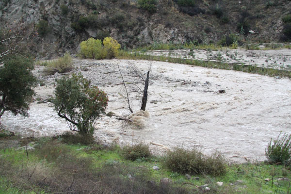ABC7 viewers Dave Cook and Lori Coltrin sent in this photo of Big Tujunga Canyon wash at Gold Canyon on Wednesday, Dec. 22, 2010.     When You Witness breaking news, or even something extraordinary, send pictures and video to video@myabc7.com, or send them to @abc7 on Twitter <span class=meta>(ABC7 viewers Dave Cook and Lori Coltrin)</span>