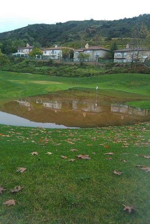 ABC7 viewer Jeff Biddle sent in this photo of flooding on a golf course in Dove Canyon on Wednesday, Dec. 22, 2010.  When You Witness breaking news, or even something extraordinary, send pictures and video to video@myabc7.com, or send them to @abc7 on Twitter <span class=meta>(ABC7 viewer Jeff Biddle)</span>