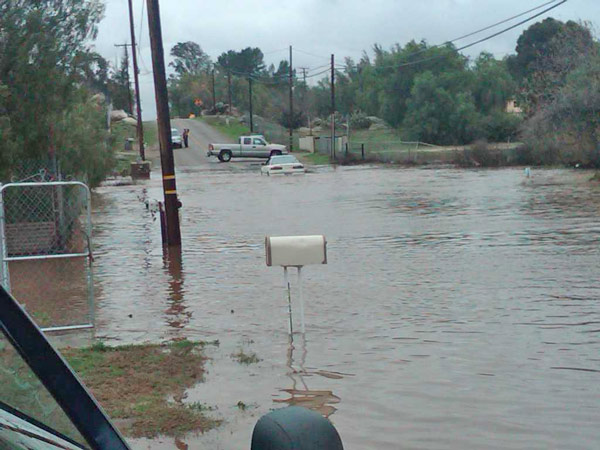 An ABC7 viewer sent in this photo of flooding from the winter storm on Wednesday, Dec. 22, 2010.  When You Witness breaking news, or even something extraordinary, send pictures and video to video@myabc7.com, or send them to @abc7 on Twitter <span class=meta>(ABC7 viewer)</span>