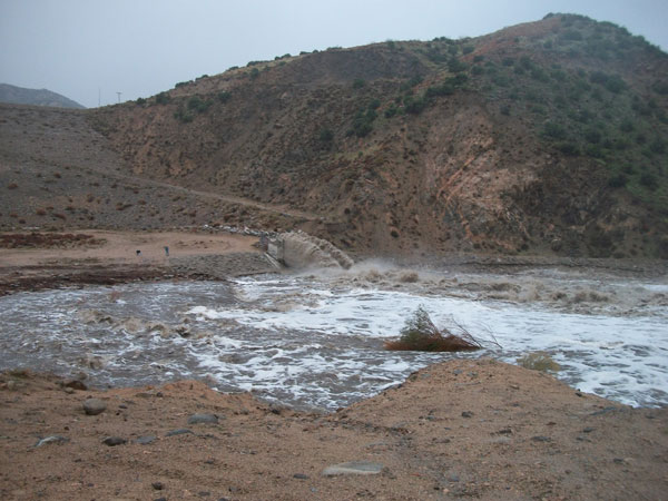 ABC7 viewer Doretta Kegel sent in this photo of the Hesperia dam spillway that feeds into the Mojave River on Wednesday, Dec. 22, 2010.  When You Witness breaking news, or even something extraordinary, send pictures and video to video@myabc7.com, or send them to @abc7 on Twitter <span class=meta>(ABC7 viewer Doretta Kegel)</span>